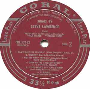 LAWRENCE STEVE 1957 D