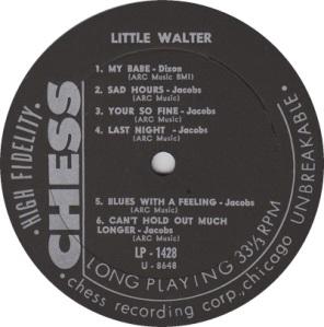 LITTLE WALTER 1957 B