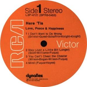 LOVE PEACE HAPPINESSS 1972 C