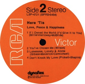 LOVE PEACE HAPPINESSS 1972 D