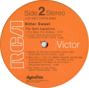 MAIN INGREDIENT 1972 D