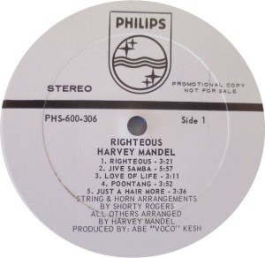 MANDEL HARVEY 1969 C