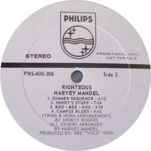 MANDEL HARVEY 1969 D