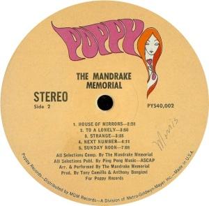 MANDRAKE MEMORIAL 1968 D
