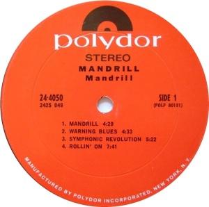 MANDRILL 1970 C