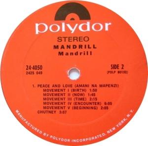 MANDRILL 1970 D
