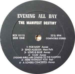 MANIFEST DESTINY 1969 C