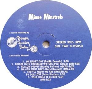 MINNIE MINSTRELS 1969 D