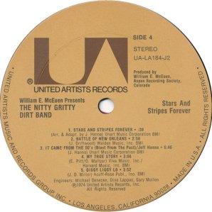 NITTY GRITTY LP UA 184 F