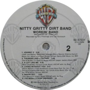 NITTY GRITTY LP WB 25722 D