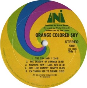 ORANGE COLOURED SKY 1968 C