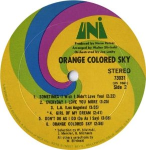 ORANGE COLOURED SKY 1968 D