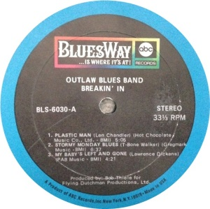 OUTLAW BLUES BAND 1969 C