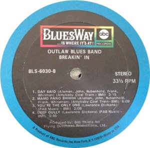OUTLAW BLUES BAND 1969 D