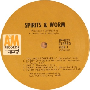 SPIRITS AND WORM 1969 C