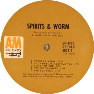 SPIRITS AND WORM 1969 D