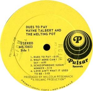 TALBOT WAYNE MELTING POT 1969 C