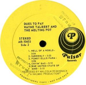 TALBOT WAYNE MELTING POT 1969 D