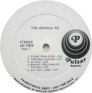 UNUSUAL WE 1969 C