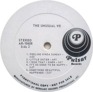 UNUSUAL WE 1969 D
