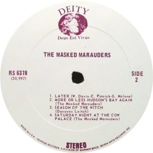 MASKED MARAUDERS 1969 D