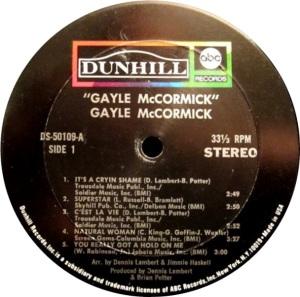 MCCORMICK GAYLE 1971 C
