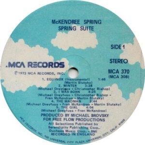 MCKENDRIE SPRING 1973 C