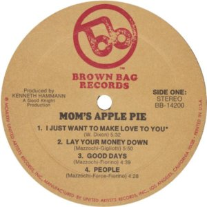MOM'S APPLE PIE 1972 C