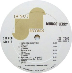 MUNGO JERRY 1970 D