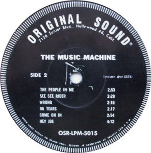 MUSIC MACHINE 1966 D