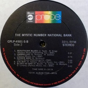 MYSTIC NUMBER NATIONAL BANK 1969 F