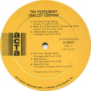 PEPPERMINT TROLLEY 1968 C