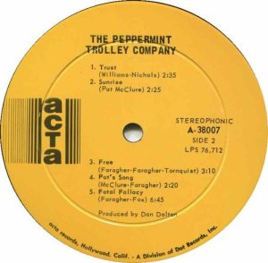 PEPPERMINT TROLLEY 1968 D