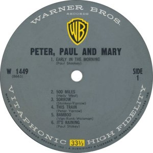 PETER PAUL MARY 1962 C