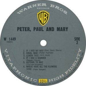 PETER PAUL MARY 1962 D