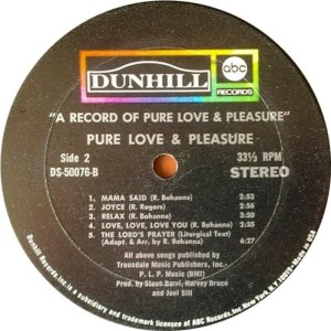 PURE LOVE PLEASURE 1970 D
