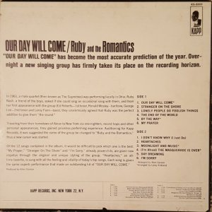RUBY AND ROMANTICS 1963 B