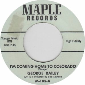 COLORADO T BAILEY 1970'S A