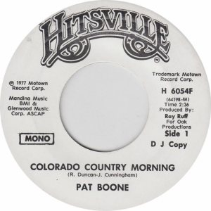 COLORADO T BOONE PAT 1977 A