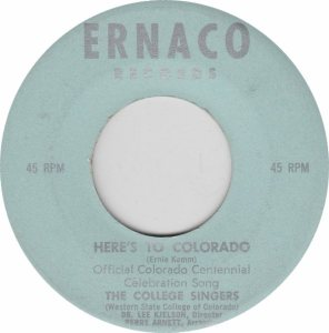 COLORADO T COLLEGE SINGERS 1970'S