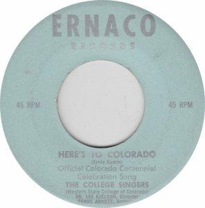 COLORADO T COLLEGE SINGERS 1970'S