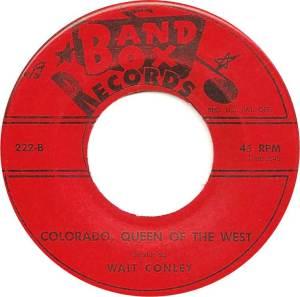 COLORADO T CONLEY WALT 1959 D