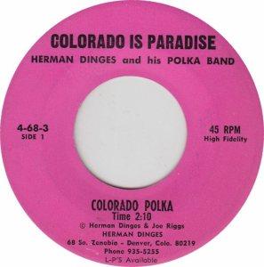 COLORADO T DINGES HERMAN 1970'S A