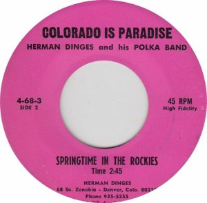 COLORADO T DINGES HERMAN 1970'S B