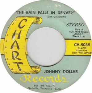 COLORADO T DOLLAR JOHNNY 1969