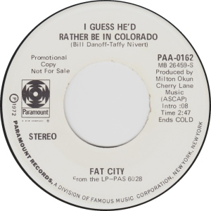 COLORADO T FAT CITY 1972 A