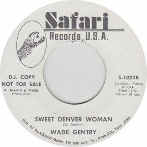 COLORADO T GENRY WADE 1972