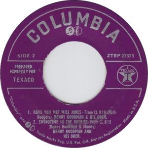 COLORADO T GOODMAN BENNY 1958 B