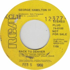 COLORADO T HAMILTON GEORGE 1969 A