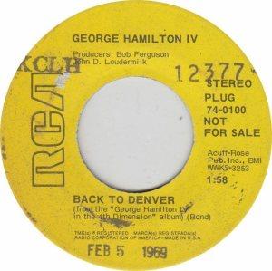 COLORADO T HAMILTON GEORGE 1969 A